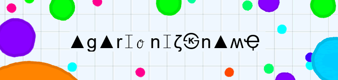 letters with symbol on Agario